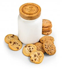 Personalized Keepsake Gifts: Personalized Cookie Jar with One Dozen Cookies