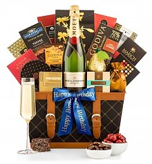 Champagne Gift Baskets: Birthday Champagne Wishes